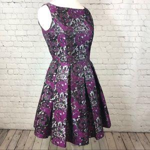 BB Dakota Clarissa Purple Metallic Dress Formal